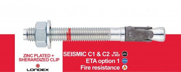 宁波隆德五金制造有限公司推出新款抗震锚栓C1&C2。